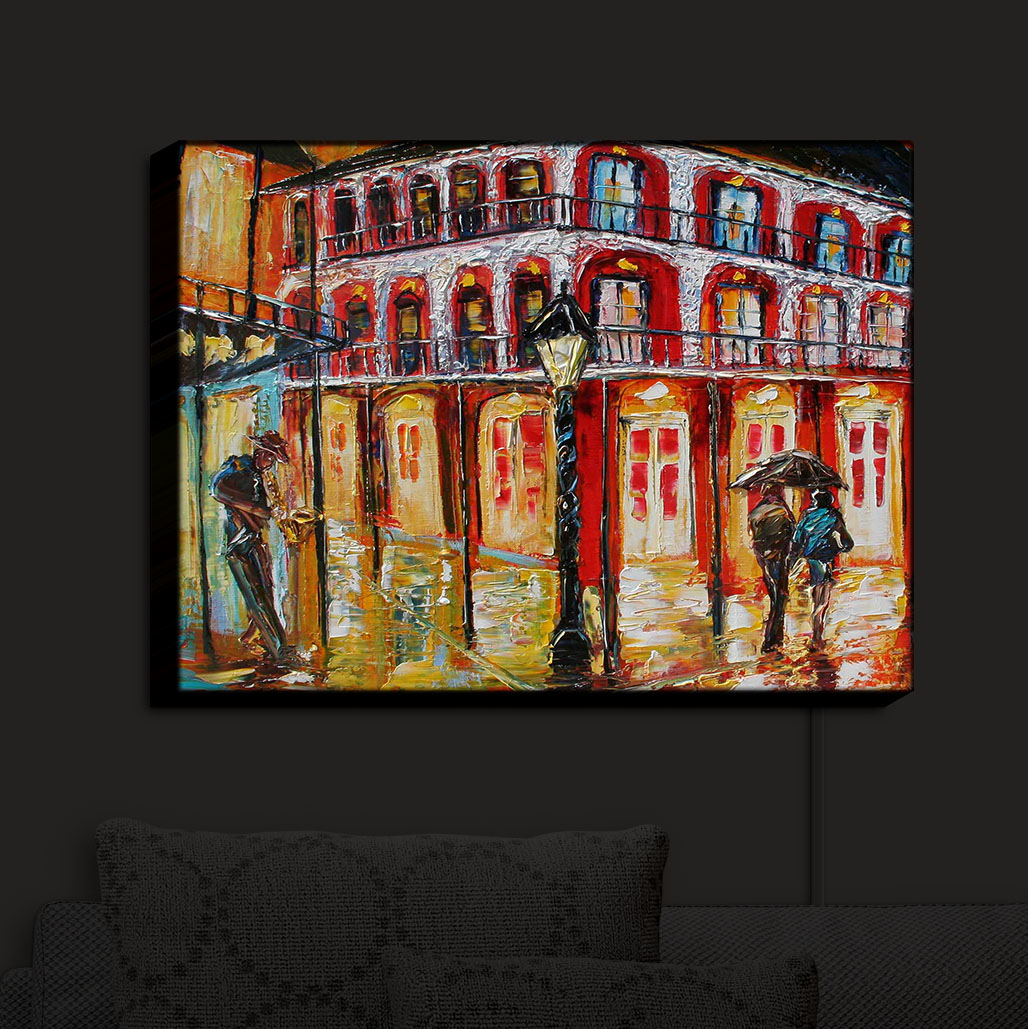 Illuminated_Wall_Art_by_DiaNoche_Designs_New_Orleans_French_Quarter_Nightlight