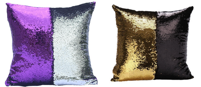 Color Changing Sequin Pillow Cover - Gold/Black 58ab1e0a5078a819aa124474
