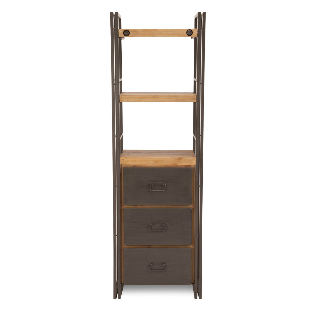 Brooklyn Bookshelf With Drawers Small