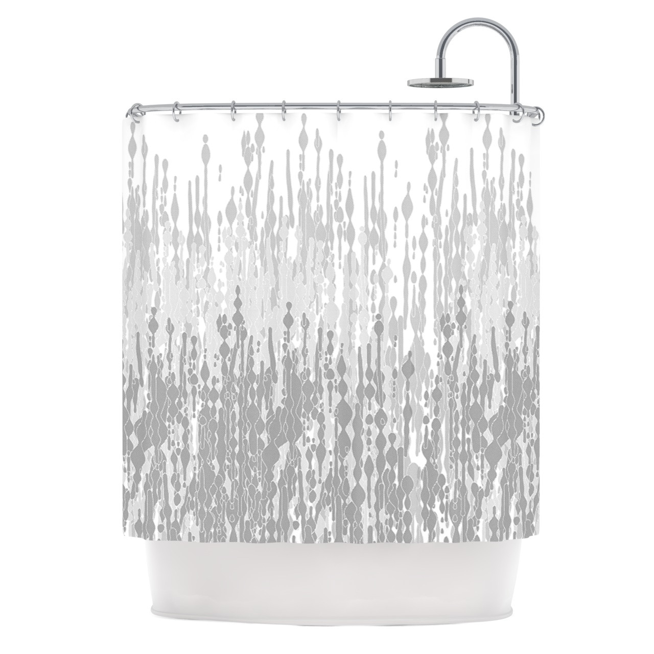 """Frederic Levy-Hadida \""""Drops\"""" Gray Shower Curtain"""