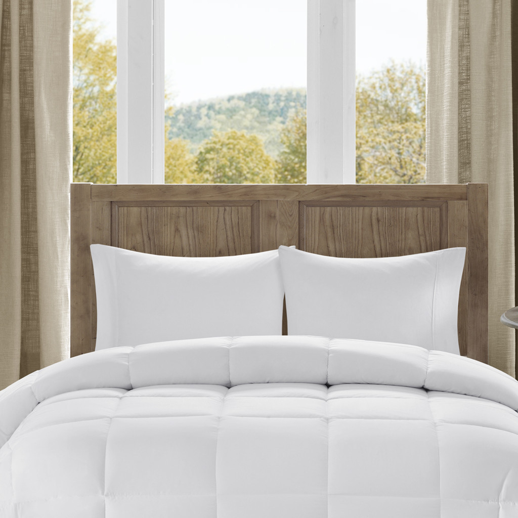 Bibb Home All-Season Overfilled Down Alternative Comforter Hypoallergenic - White - Twin/Twin Xl