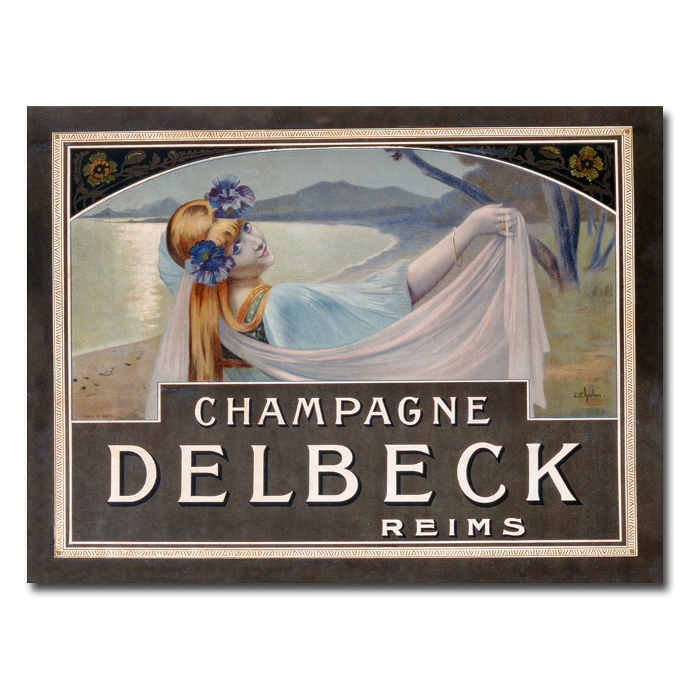 Louis Chalon 'Champagne Delbeck 1910' Canvas Art 18 x 24