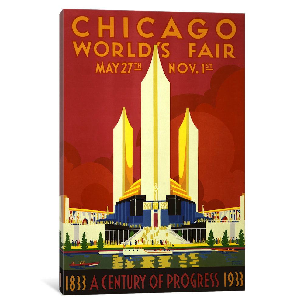 Chicago World's Fair 1933 Vintage Poster by Unknown Artist 58c57ffb2a00e46cc31ee16d