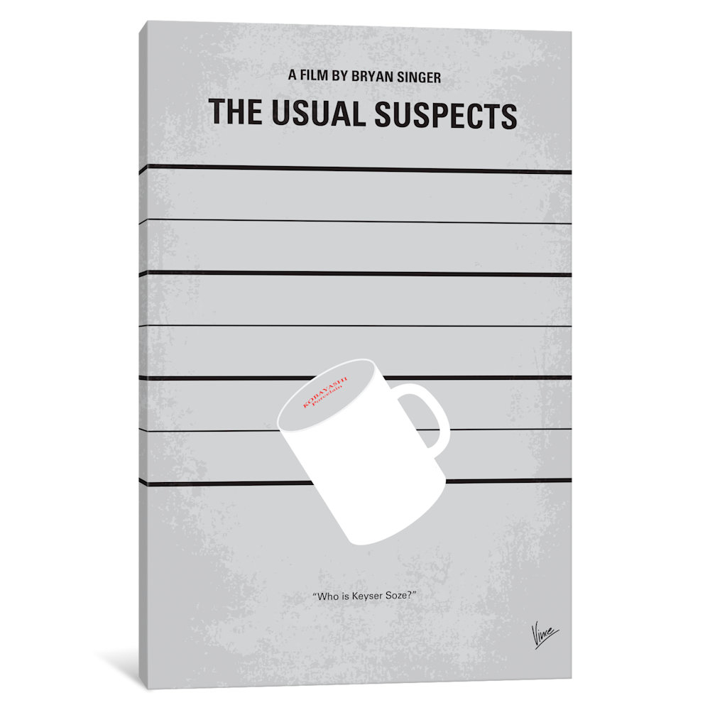 The Usual Suspects Minimal Movie Poster by Chungkong