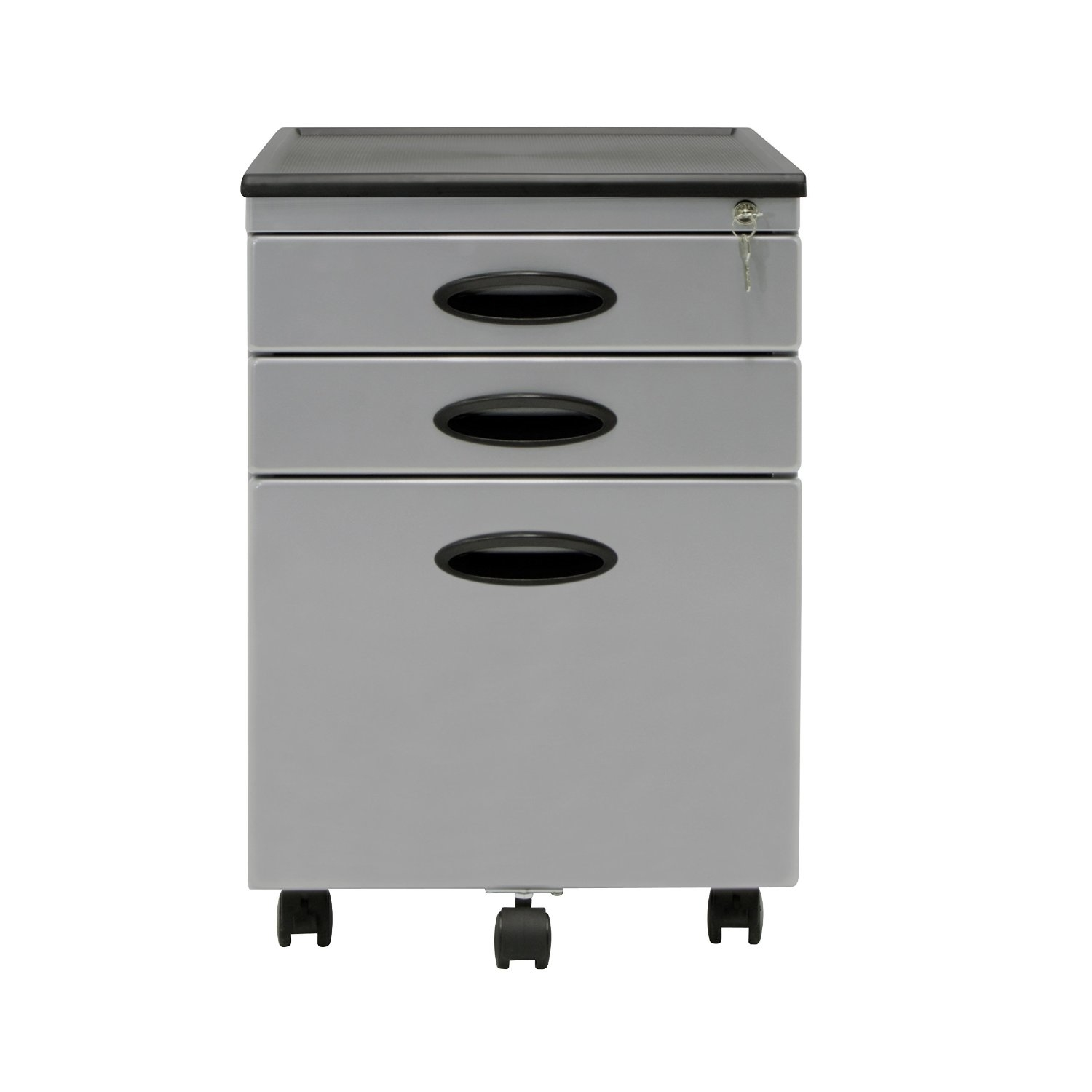 Offex Office File Storage Cabinet Silver