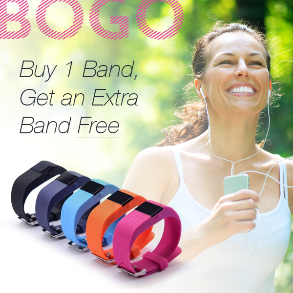 SmartFit Mini Bluetooth Fitness Activity Tracker with Free Extra Band - Purple 55a1c6e54b3d6fc9408b645e