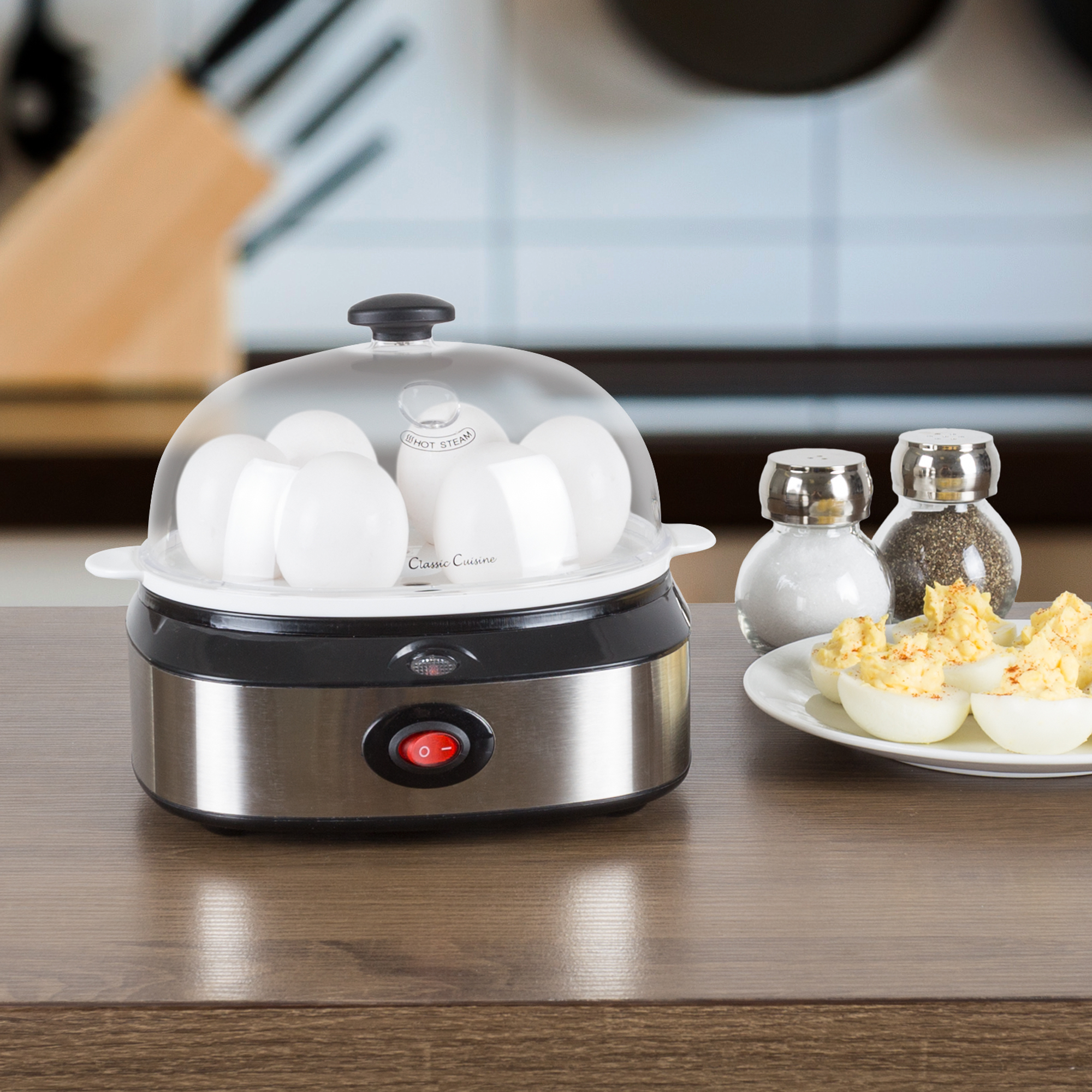 Multi-Function Electric Egg Cooker 7 Egg Capacity Omelet Poached Eggs