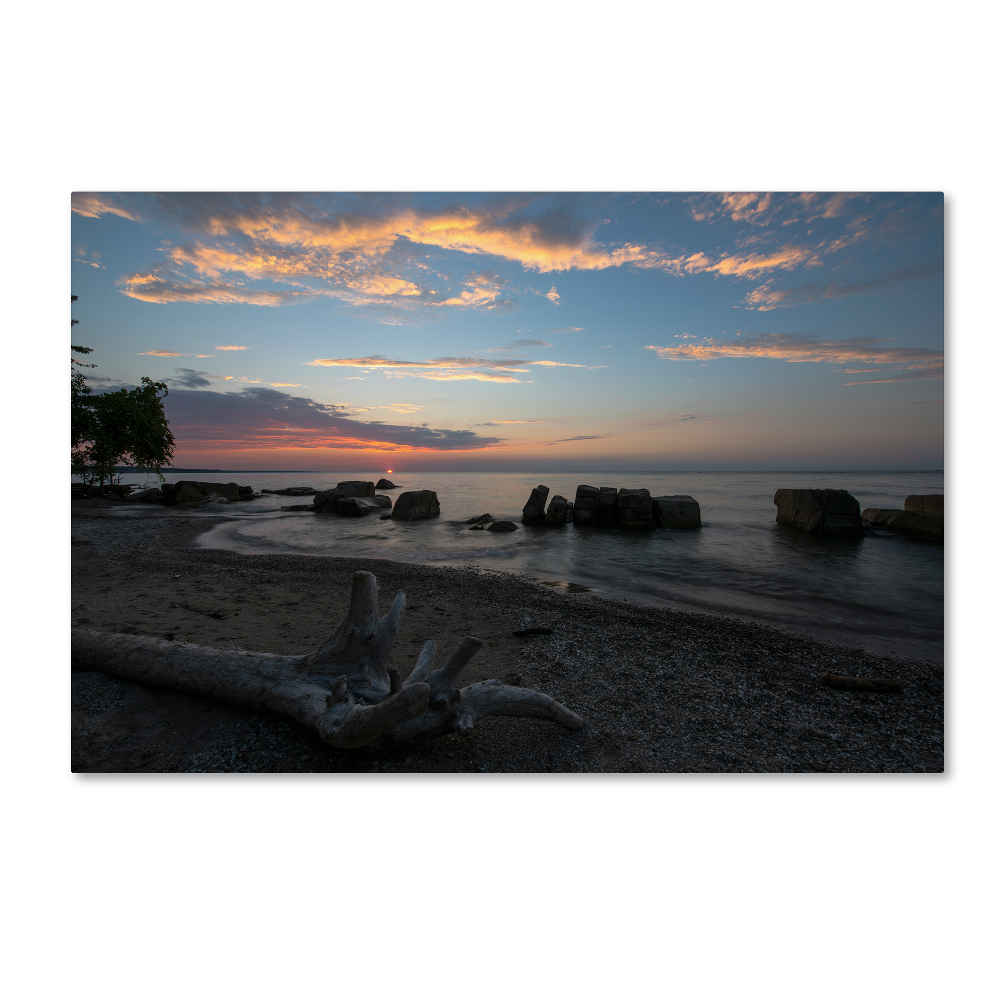 Kurt Shaffer 'Magic on the Shores of Lake Erie' Canvas Art 16 x 24