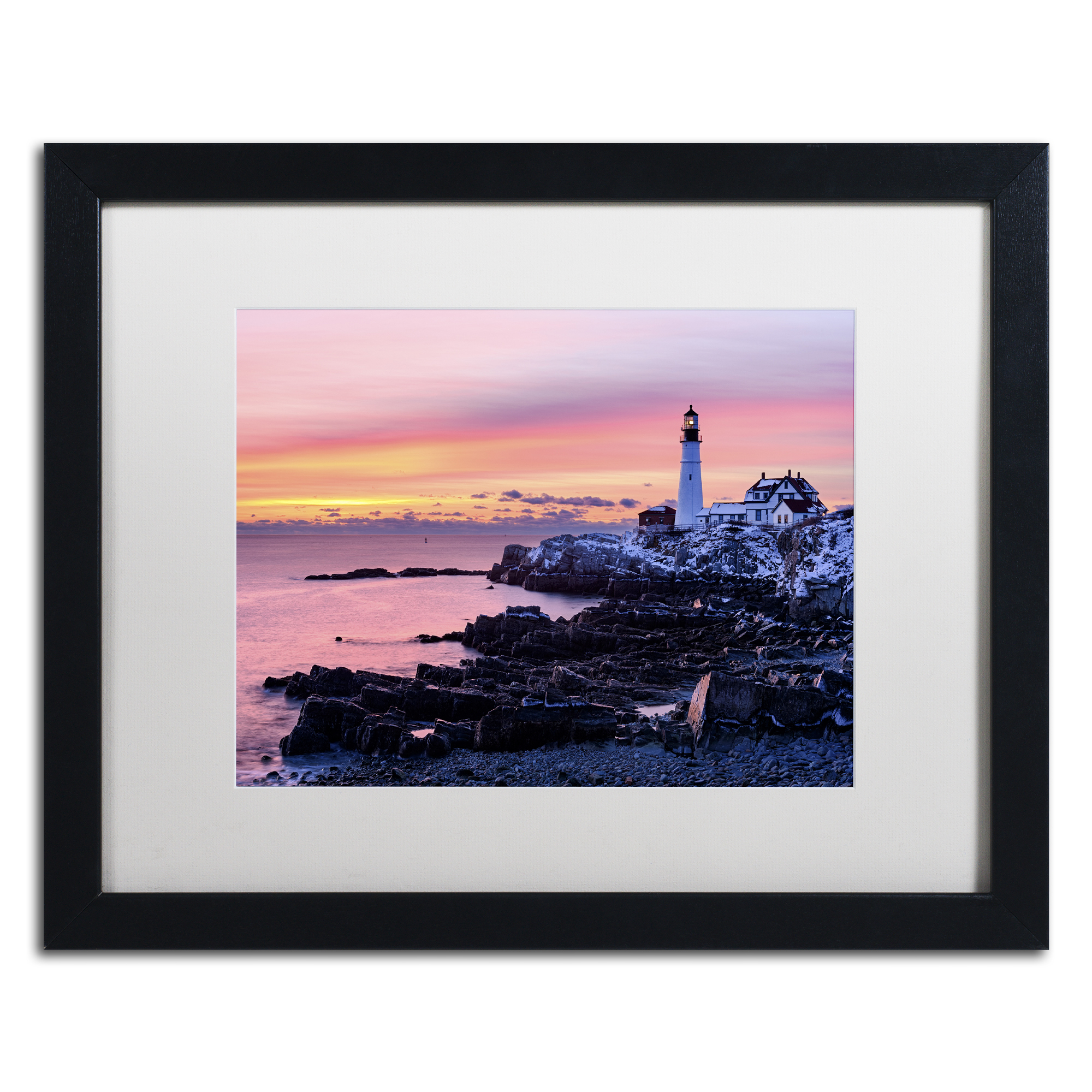 Michael Blanchette Photography 'Light of Dawn' Black Wooden Framed Art 18 x 22 Inches