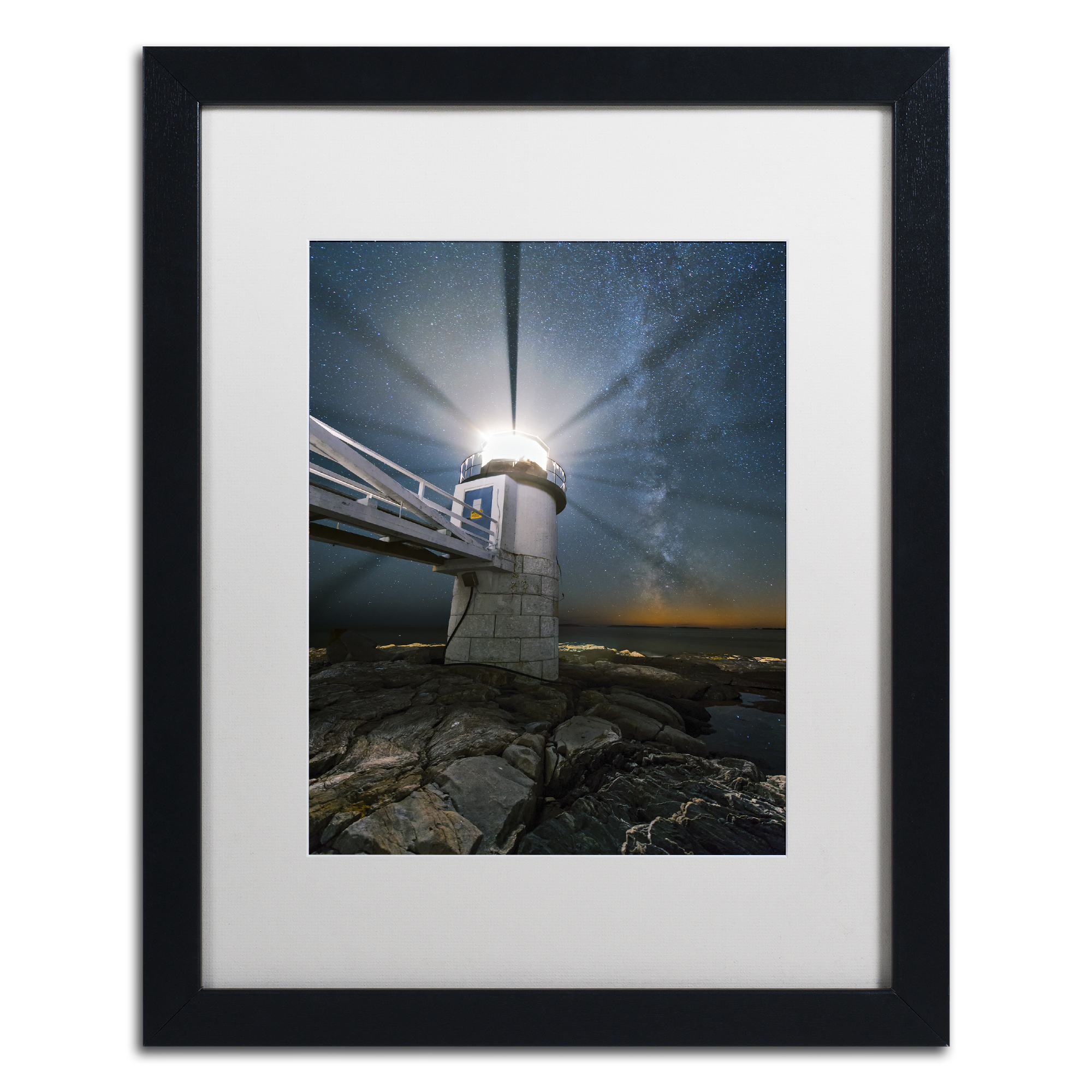 Michael Blanchette Photography 'Light Propeller' Black Wooden Framed Art 18 x 22 Inches