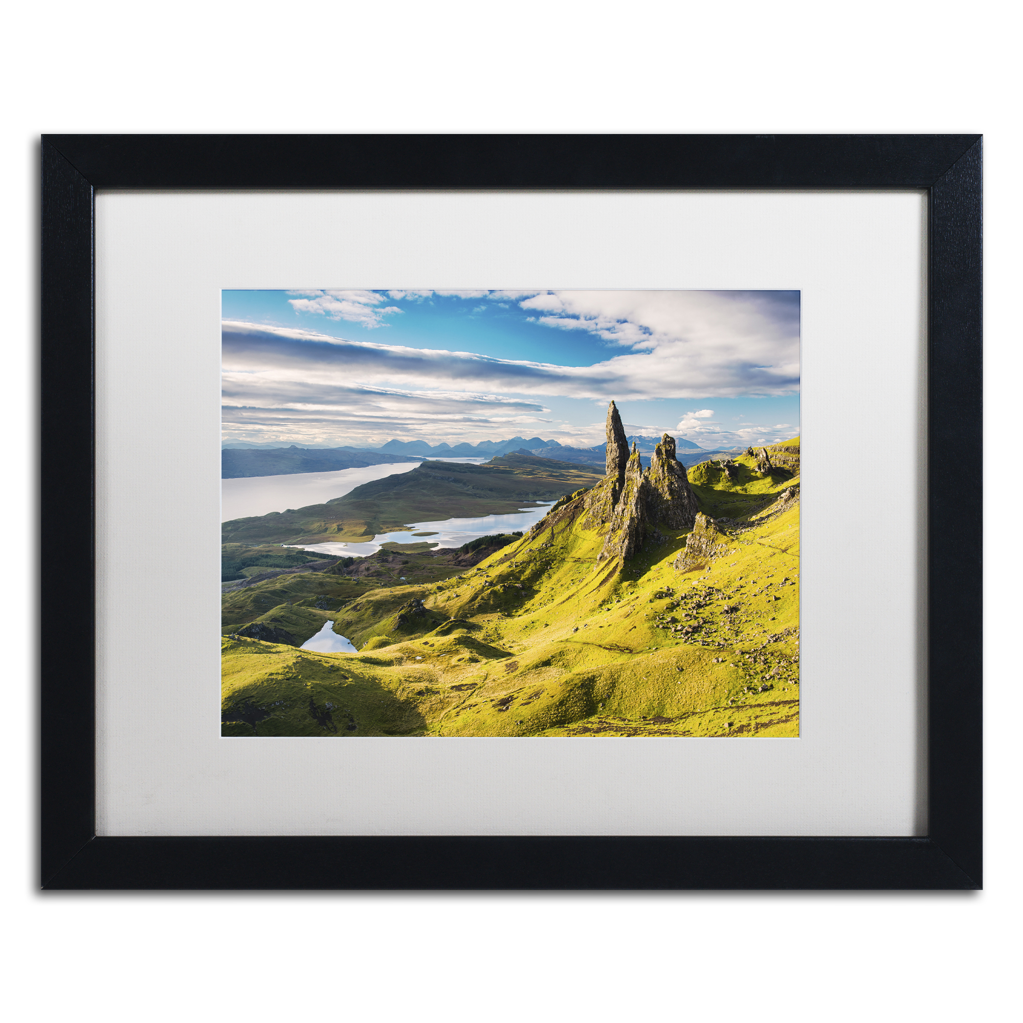 Michael Blanchette Photography 'Light on the Storr' Black Wooden Framed Art 18 x 22 Inches