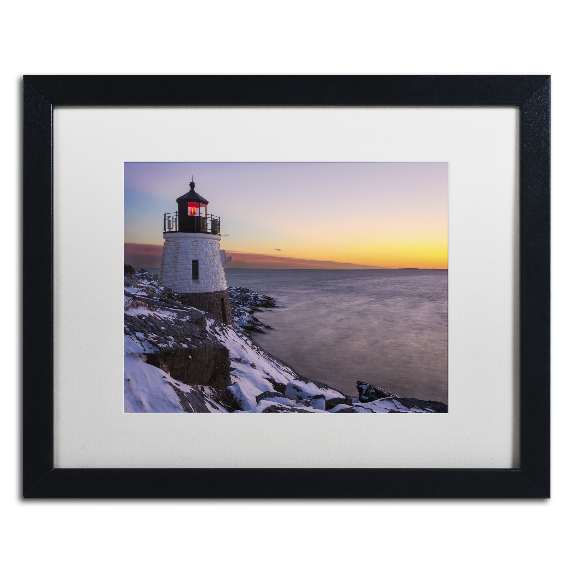 Michael Blanchette Photography 'Light on the Bay' Black Wooden Framed Art 18 x 22 Inches