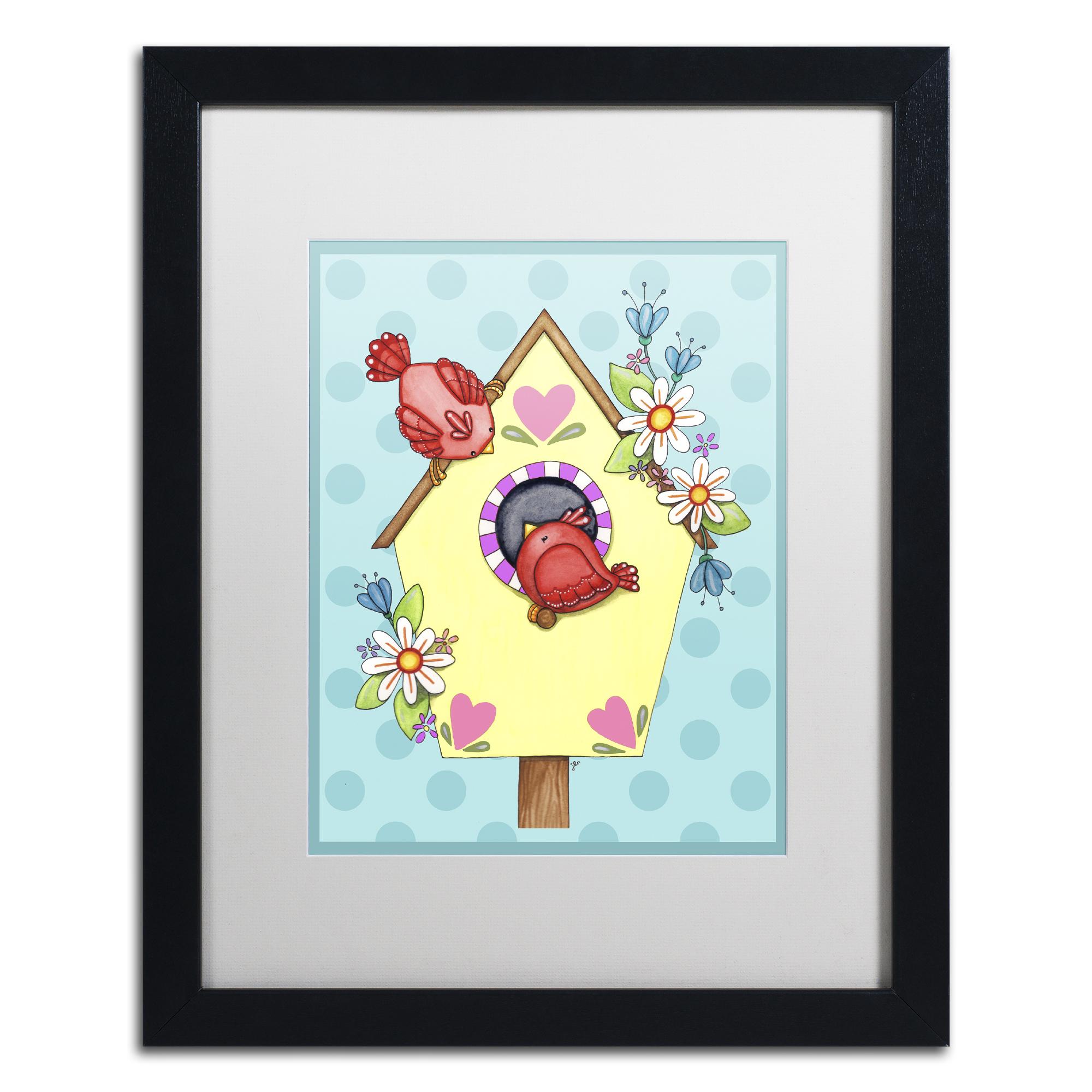 Jennifer Nilsson 'Home Tweet Home' Black Wooden Framed Art 18 x 22 Inches