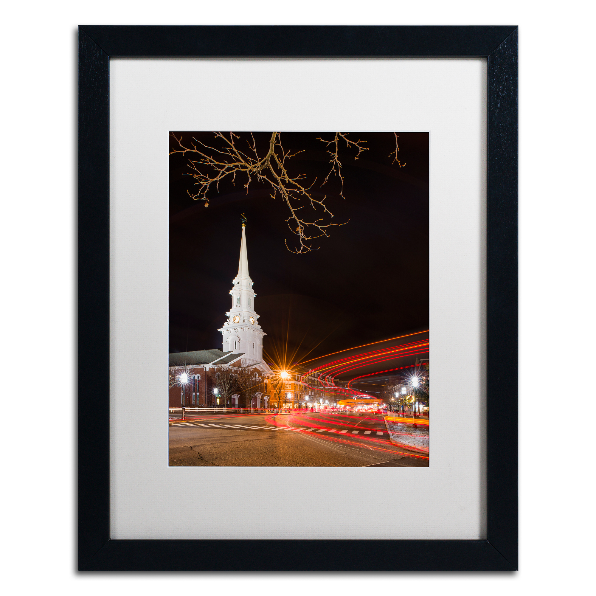 Michael Blanchette Photography 'Street Lights' Black Wooden Framed Art 18 x 22 Inches
