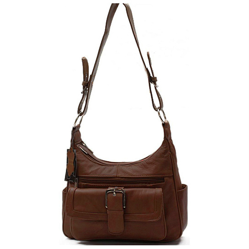 AFONiE Collection The Classic Genuine Leather Brown Women Purse (CA-W088BRW) photo