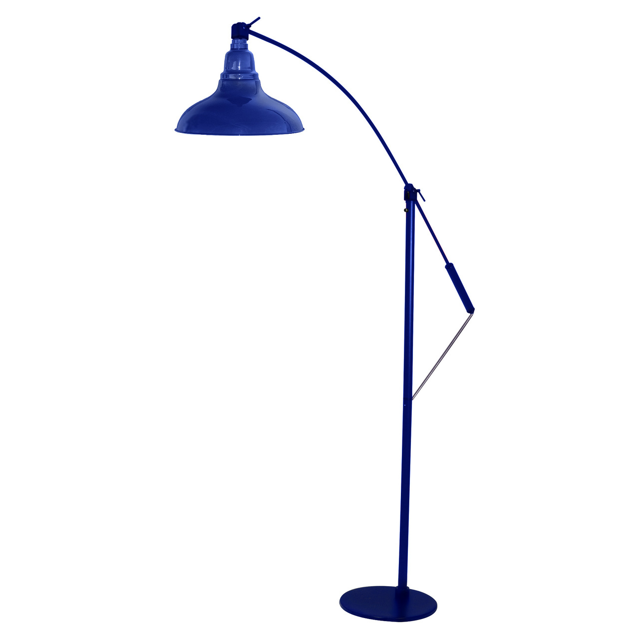 Cocoweb Led Industrial Floor Lamp Cobalt Dahlia Product Photo