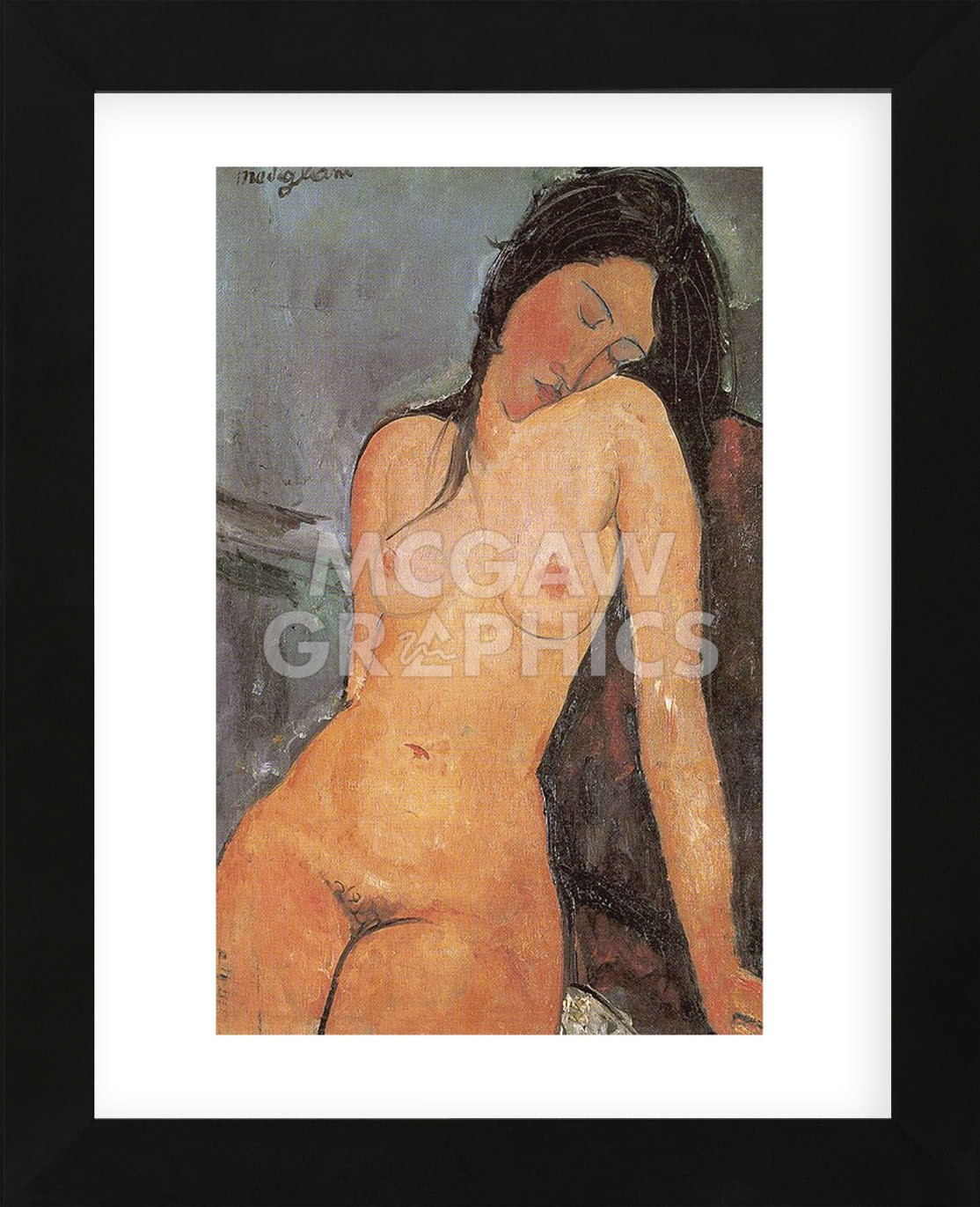 Seated Nude, ca. 1917 (Framed) 591dd0d9c98fc4637b49547d