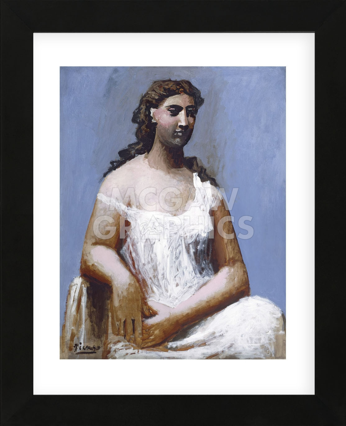 Seated Woman in a Chemise, 1923 (Framed) 591dd0d9c98fc46381779fdd