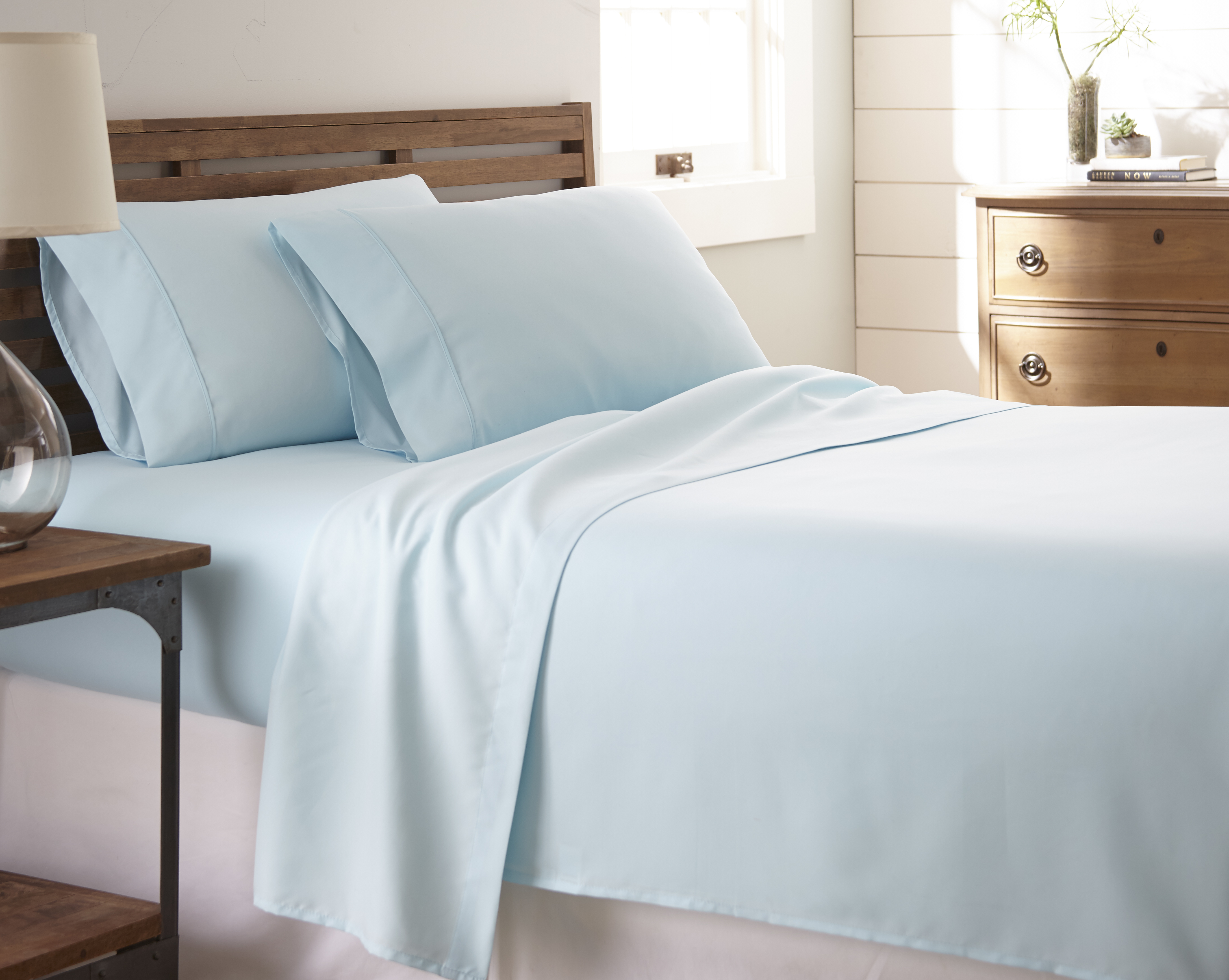 Bamboo Softness Premium 4 Piece Bed Sheet Set In 14 Colors - Aqua, Calking