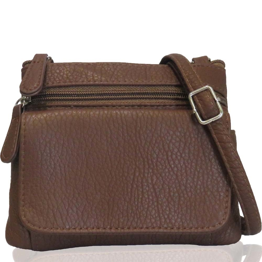 AFONiE- Mini Sofia Genuine Leather Multi Purse (CA-W050BR) photo