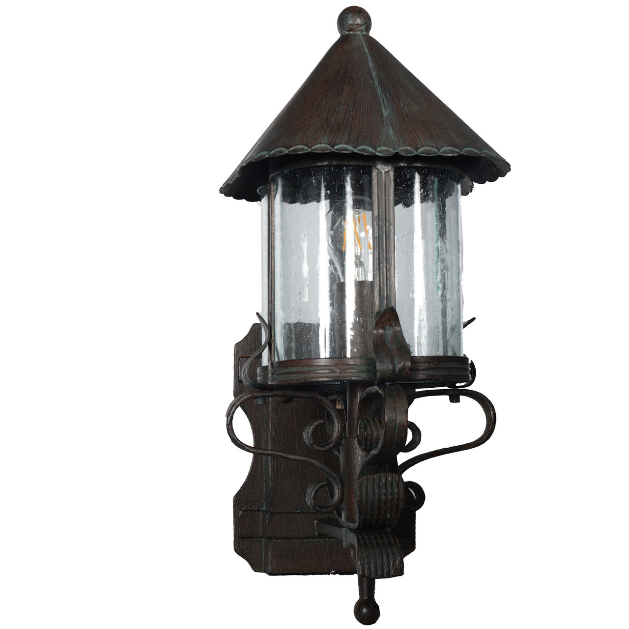 Outdoor Led Standing Wall Lantern Elphin