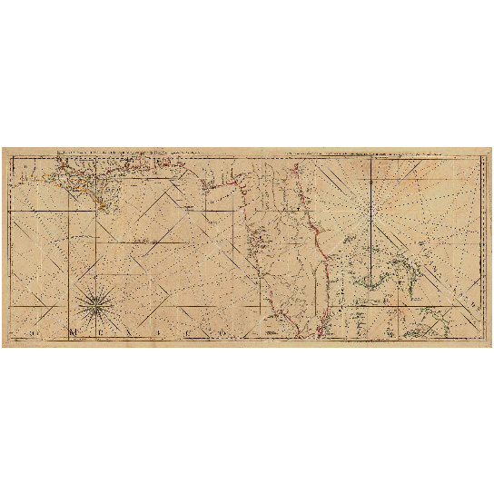"""Old Florida Map 1775 Restoration Hardware Style Vintage Map of Florida wall Map Bahamas Gulf of Mexico Map Coastal living Map Art Home Decor - 8\"""" x 19\"""" Inches"""
