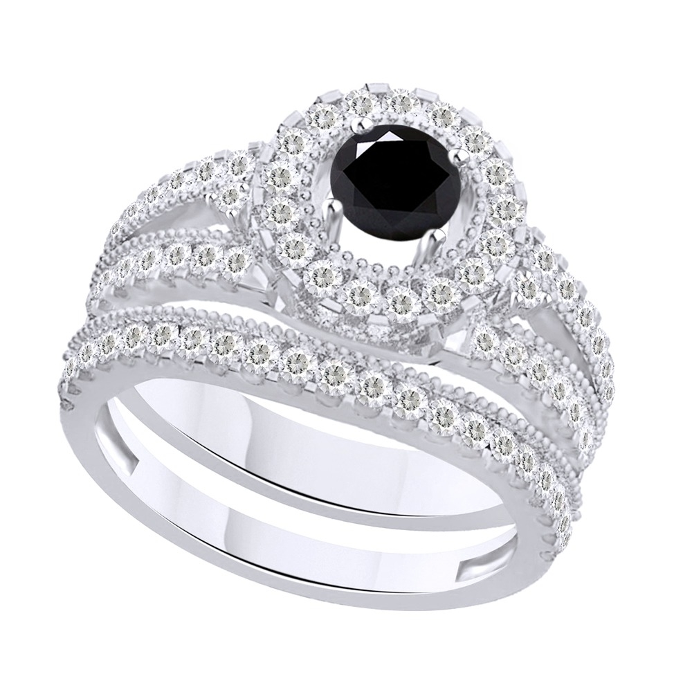 5_Ct_Round_Black_Moissanite_Bridal_Engagement_Rings_In_Sterling_Silver