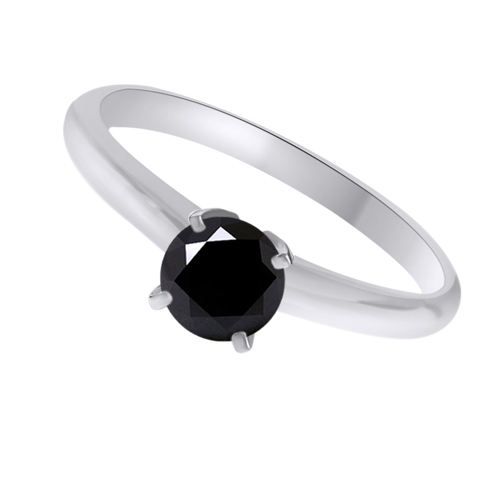 10K_White_Gold_15_Ct_Black_Moissanite_Solitaire_Bridal_Ring_Jewelry_