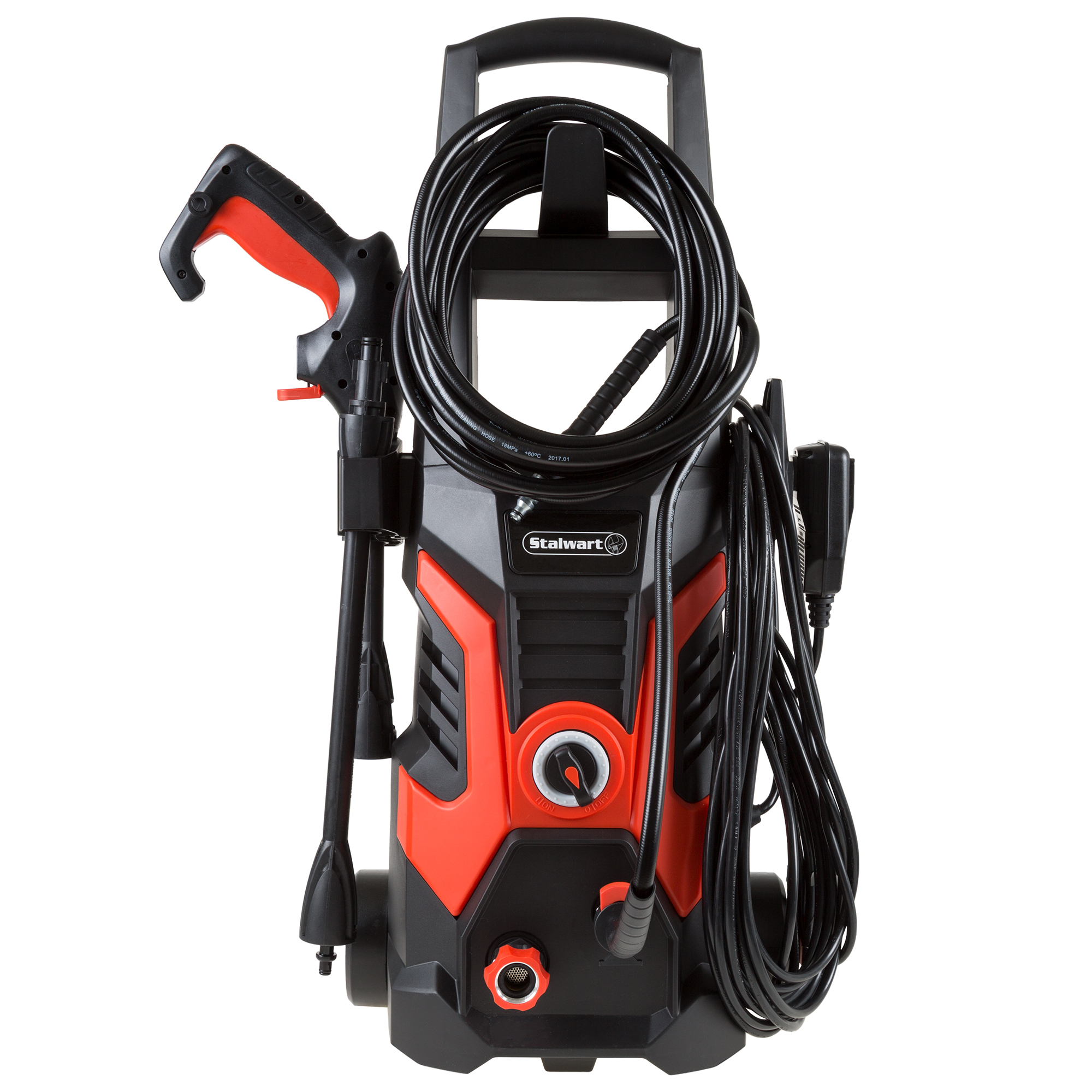 Electric Power Washer 1450 - 2000 PSI with 20 Ft Hose 35 Ft Cord Nozzle Wheels Portable