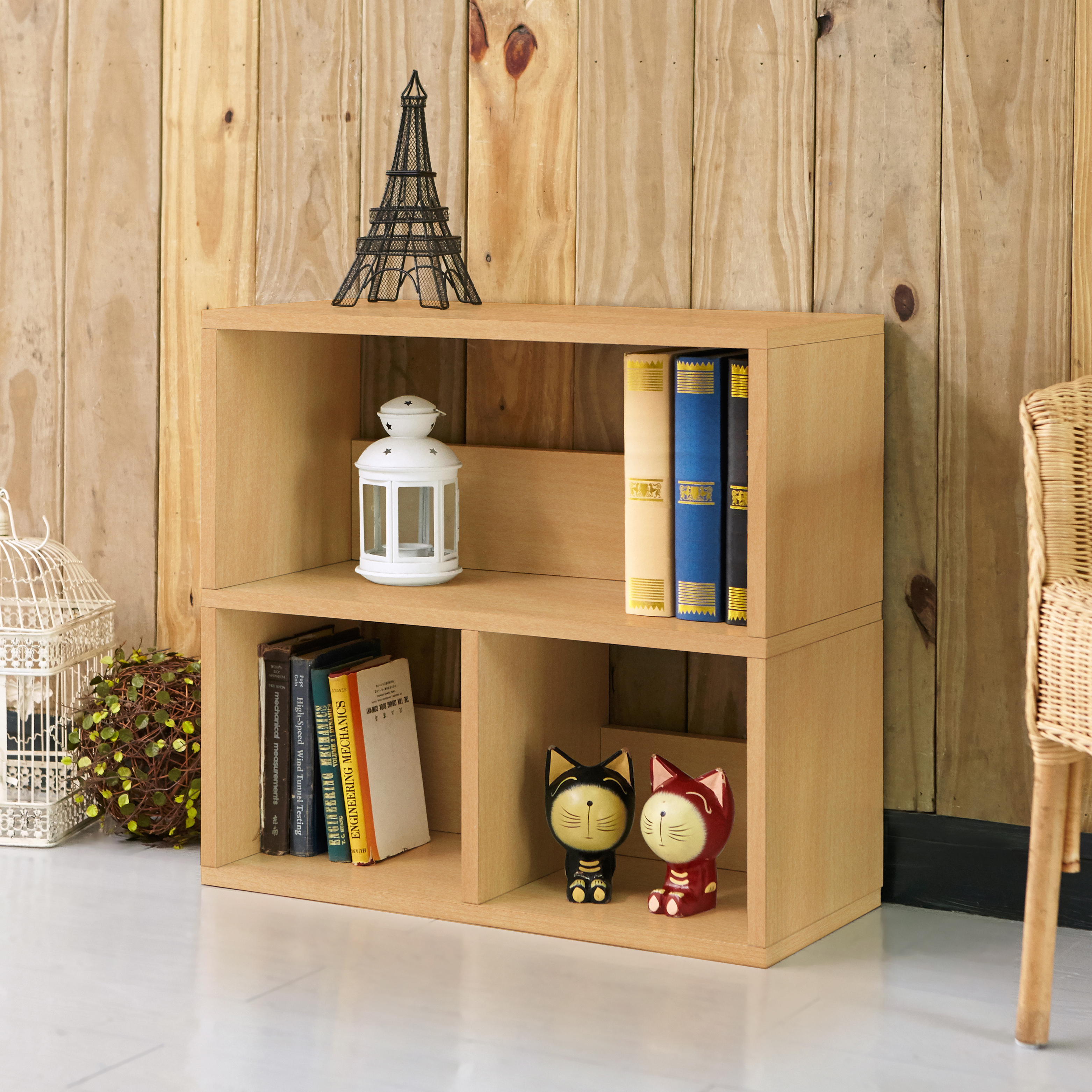 Way Basics Eco Friendly Collins Cubby Bookshelf and Organizer, Natural (Lifetime Warranty)