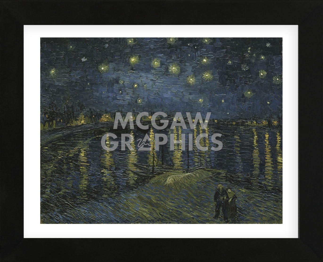 Starry Night Over the Rhone (Framed) 591dd10fc98fc4637a059b9f