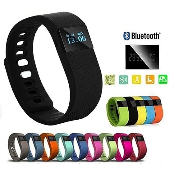 Smart Fitness Health and Activity Bluetooth Watch - Black -  3one0