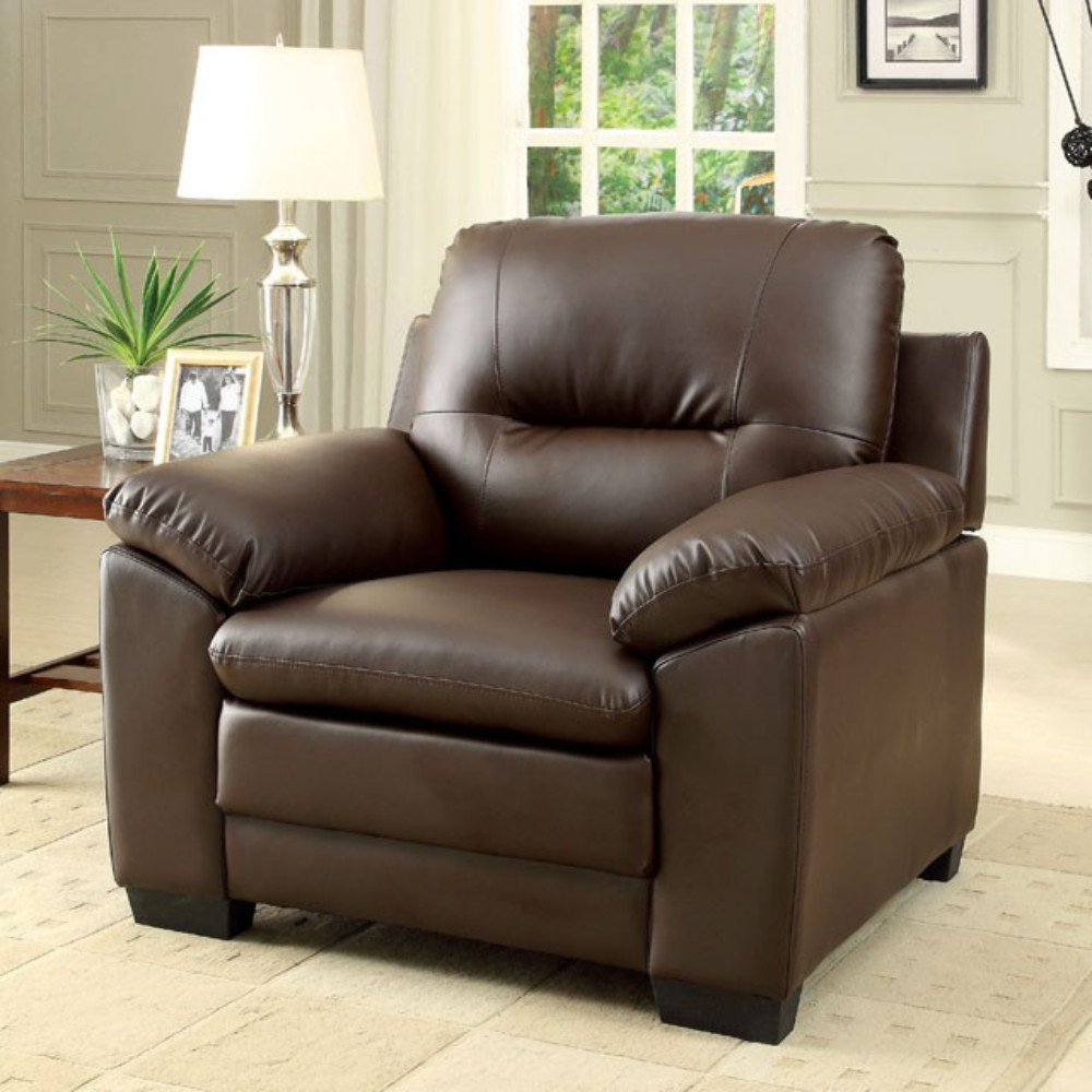 Parma Contemporary Chair, Brown