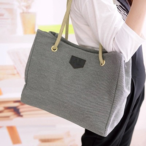 Women's Fashion Hobo Canvas Shoulder Bag Messenger Purse Satchel Tote (652827) photo
