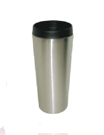 Good Life Gear Sf3007 SIL 16 oz. Hot-Cold Travel Mug With Screw On Lid - Silver 596d370e2a00e4022b27662d