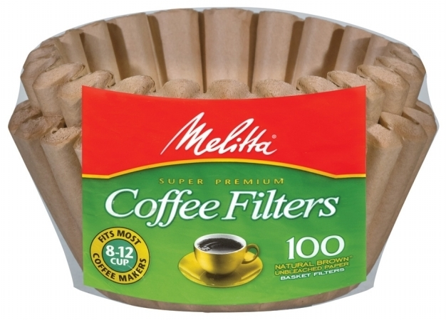 Melitta 629092 Natural Brown Basket Coffee Filters - 100 Package 596d38d12a00e4022c3125a9