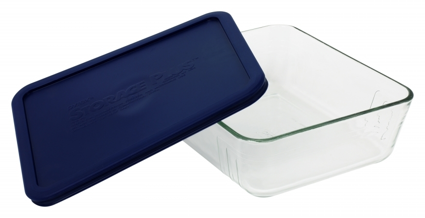 World Kitchen 11 Cup Storage Plus Rectangular Dish With Plastic Cover 6017400 - Pack of 2 596d39122a00e4022c3129f9