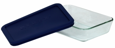 World Kitchen 3 Cup Storage Plus Rectangular Dish WIth Plastic Cover 6017471 - Pack of 6 596d39482a00e4022c312dea