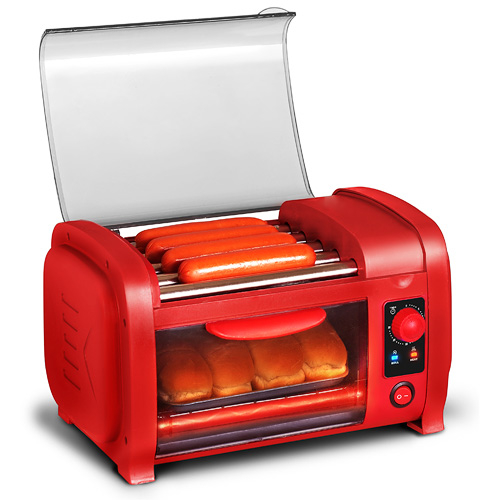 Elite Ehd-051R Cuisine Hot Dog Roller & Toaster Oven - Red 596d4d072a00e43d1c393ad9