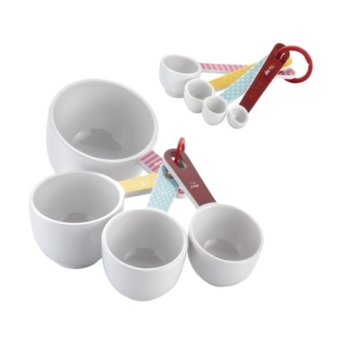 Cake Boss 55467 Countertop Accessories 8-Piece Melamine Measuring Cups And Spoons Set Basic Pattern 596e27332a00e4592020305c
