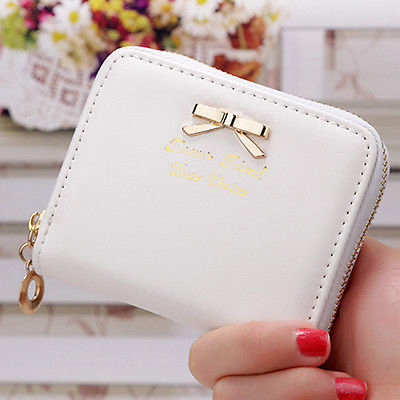 Zip Coin Purse Handbag - white (Fangfang) photo