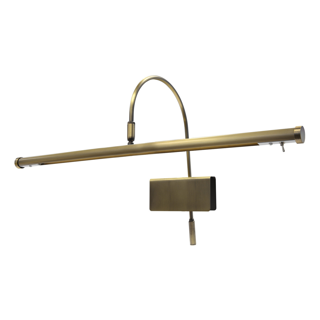 """19\"""" LED Grand Piano Lamp - Antique Brass"""