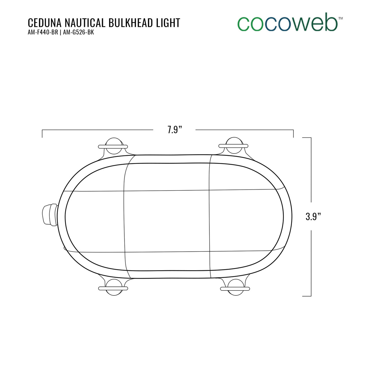 Cocoweb Nautical Bulkhead Light Ceduna