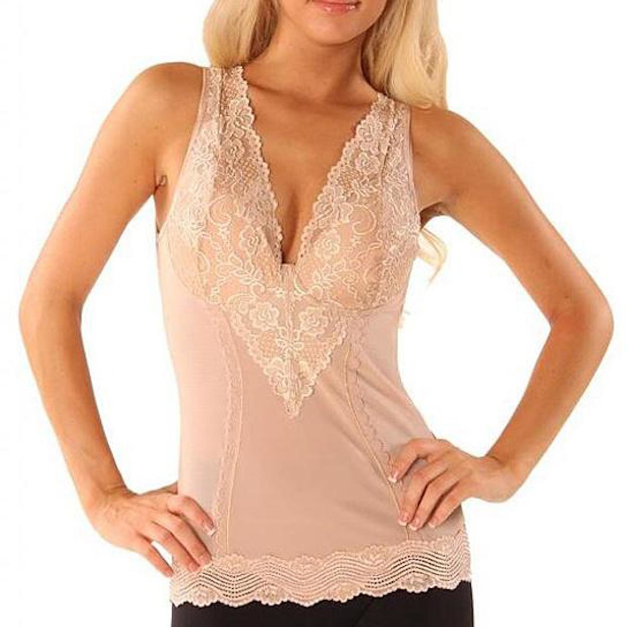 Curvaceous Lace Shaping Camisole - Nude, S 5977fde86d88eb42914f191e