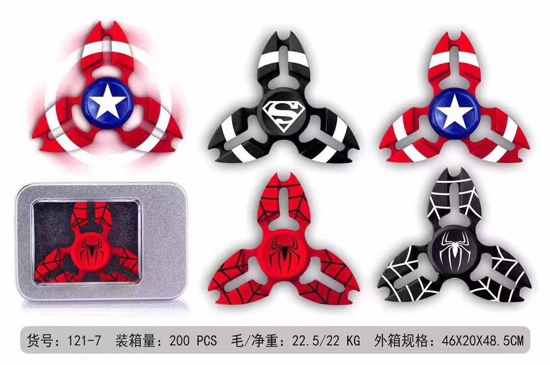 5 Pieces Super Hero Fidget Spinner, Captain America , Spider Webb, - RED Webb 597ac8982b59ca6cf63708dd