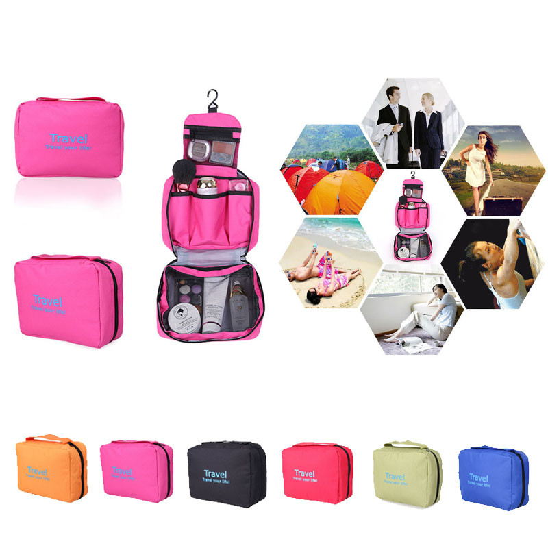 Travel Toiletry Cosmetic Makeup Purse Organizer Hanging Wash Bag Holde (mau-259) photo