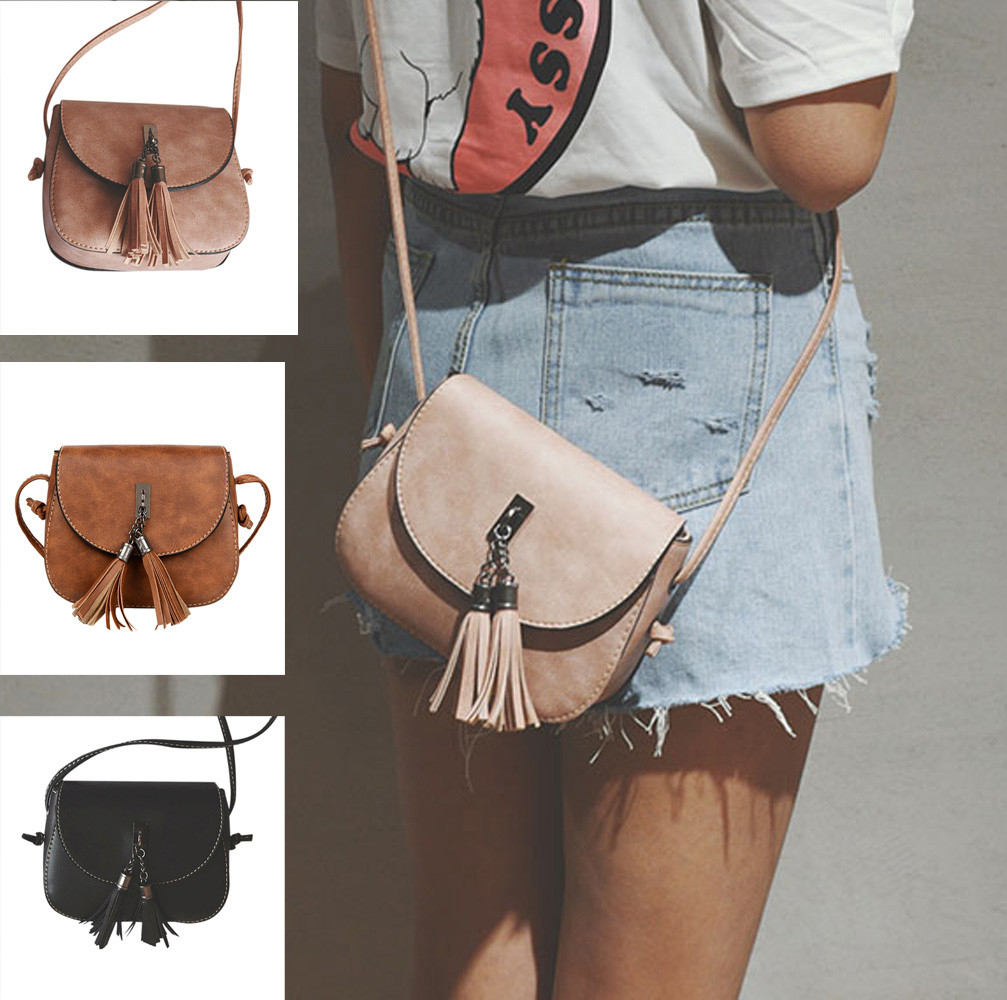 Women Fashion Handbag Tassel Shoulder Bag Large Tote Ladies Purse (BB-3764) photo