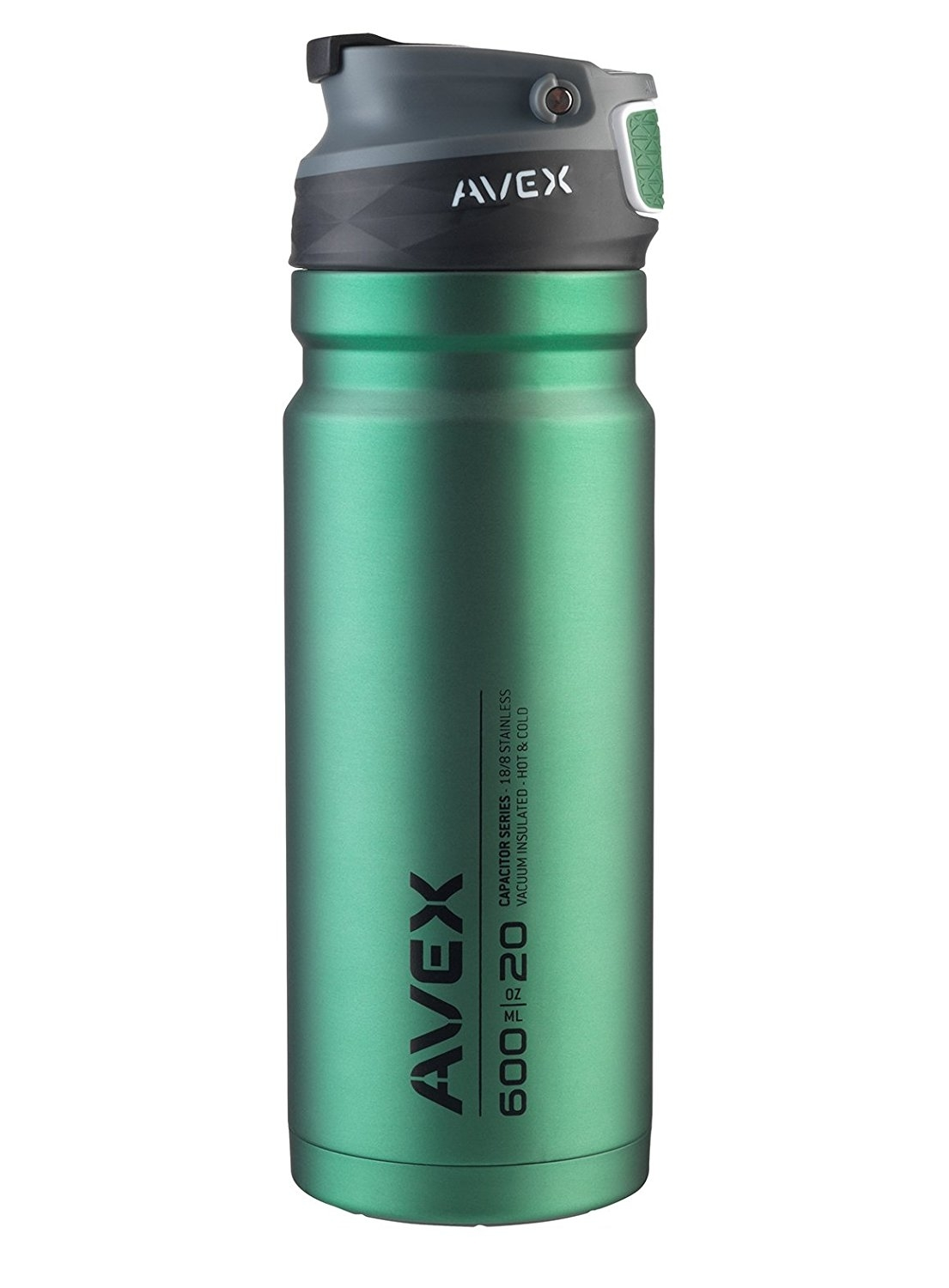 Avex ReCharge Autoseal Stainless Steel Tumbler, 600 mL/20 oz - Green