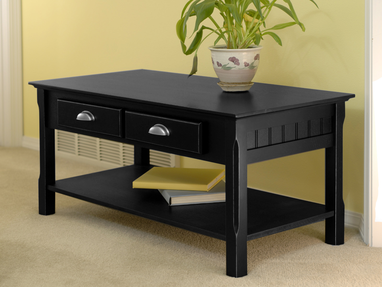 Winsome Ocassion Living Room Dress Up Timber Coffee Table Drawers Shelf