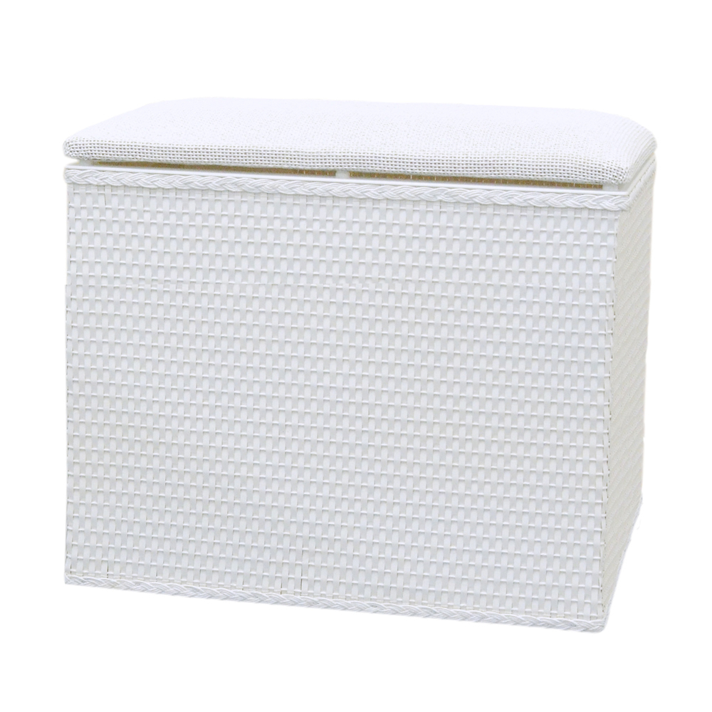 Lamont Home Barrington Bench Hamper White - White 57d6863f99336a778f7d681a